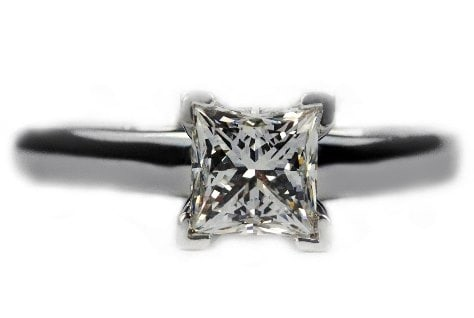 V Prongs Princess Cut Ring