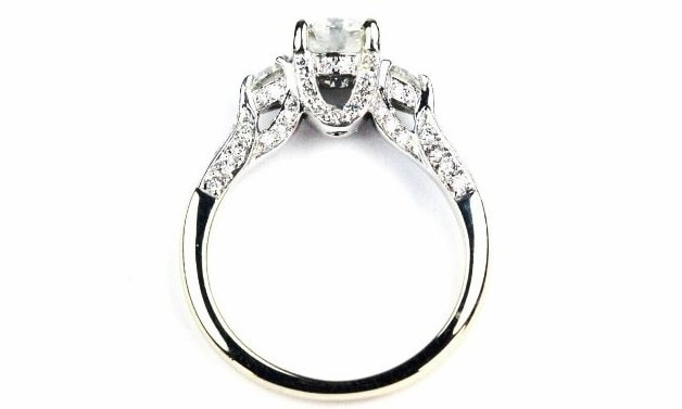 Cathedral style engagement rings