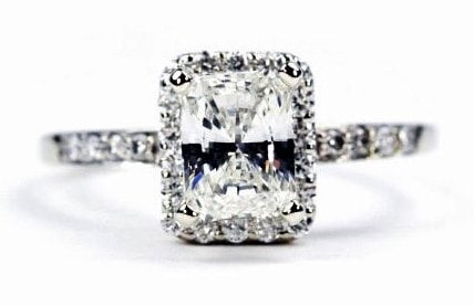 Halo Radiant Cut Engagement Ring