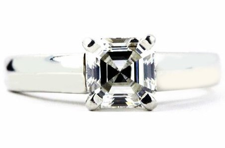 Ideal asscher cut Engagement Ring