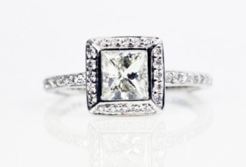 Bezel Princess Cut Diamond Ring