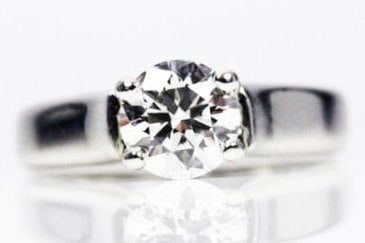 Round Cut Ring with diamond