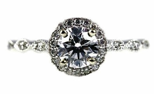 Vintage Halo Engagement Rings Style