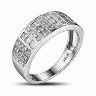 Band for Men  Channel Set Diamond Wedding