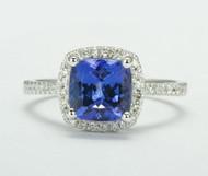 Natural Tanzanite & Diamond Ring