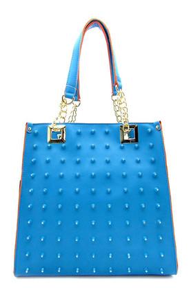 Blue Rhinestone Tote Bag