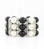 Stone-Look Beaded Bracelet