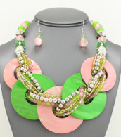 Alpha Kappa Alpha Shell Bib Necklace