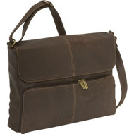 Distressed Leather Qtr Flap Messenger