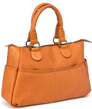 Slip Pocket Satchel Handbag