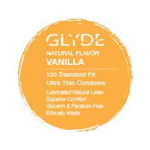 GLYDE ULTRA Organic Flavored Vanilla 100-Count bulk condoms