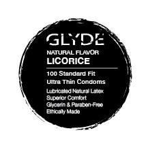 GLYDE Organic Black Licorice Flavored Bulk Condoms 100 Count Box