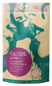 GLYDE ULTRA  Ultra Thin Medium Standard Fit Vegan Condoms 12