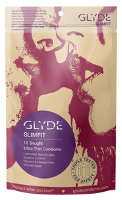 GLYDE SLIMFIT Snugger Fit Vegan Condoms 12 Pack
