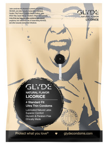GLYDE ULTRA Organic Licorice Flavored 4-Count