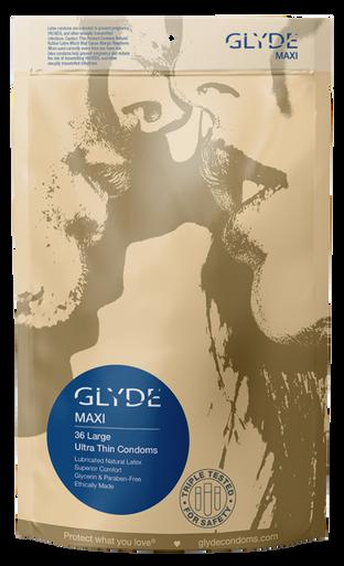 GLYDE MAXI Ultra Thin Large XL Vegan Condoms 36 Count