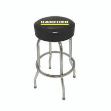 Round Black Vinyl Bar Stool