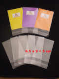 1500 (BULK) Cello Clear Bags - SELF SEAL - 6.5 cm x 9 cm +3 cm