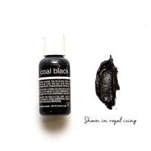 Chefmaster Liqua-Gel COAL BLACK (0.70oz)