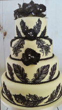 FEATHERS 3D Cake Lace Mat - by Claire Bowman