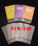 1500 (BULK) Cello Clear Bags - SELF SEAL - 11 cm x 16 cm + 3 cm