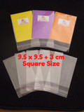 1500 (BULK) Cello Clear Bags - SELF SEAL - 9.5 cm x 9.5 cm +3 cm