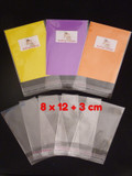1500 (BULK) Cello Clear Bags - SELF SEAL - 8 cm x 12 cm +3 cm