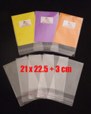 1000 (BULK) Cello Clear Bags - SELF SEAL - 21 cm x 22.5 cm +3 cm