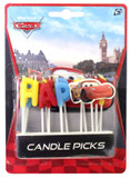 Cars Happy Birthday Pick Candle