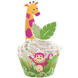 Wilton Jungle Pals Cupcake Wraps n Pix