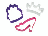 Wilton 3 Piece Princess Cookie Cutter Set
