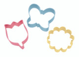 Wilton 3 Piece Flower Cookie Cutter Set