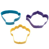 Wilton 3 Piece Tea Party Cookie Cutter Set