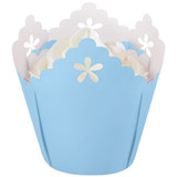 Wilton Blue Flower Pleated Baking Cups