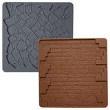 Wilton Stone/Wood 2-pc Silicone Texture Mat Set