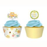 Happi Tree Cupcake Wrappers & Picks