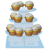 Teddy Baby Blue Tiered Cupcake Server