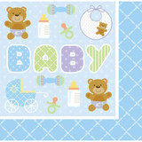 Teddy Baby Blue Napkins