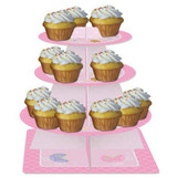 Teddy Baby Pink Tiered Cupcake Server