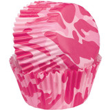 Wilton Pink Camo Baking Cups Mini