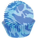 Wilton Blue Camo Baking Cups Mini