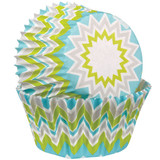 Wilton Chevron Lime Baking Cups Mini