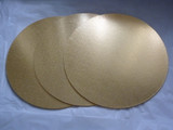 13 inch Masonite cake board Round - Gold