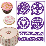 Wilton Stick-N-Stay Stencils - Hearts