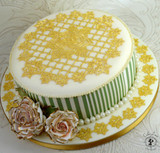 Ring of Roses 3D Cake Lace Mat - by Claire Bowman