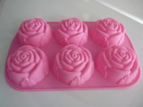 Food grade Rose shaped cavity cake mold