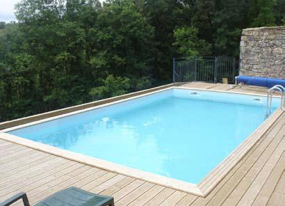 3m X 5m Rectangular Quartoo Wooden Gardipool Oasis Pool