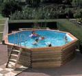Knightsbridge 4m Octagonal Premium Plastica Wooden Pool