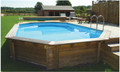 Belgravia 5.5m x 3.6m Plastica Premium Above Ground Wooden Pool