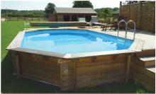 Belgravia 5.5m x 3.6m Plastica Premium Above Ground Wooden Pool